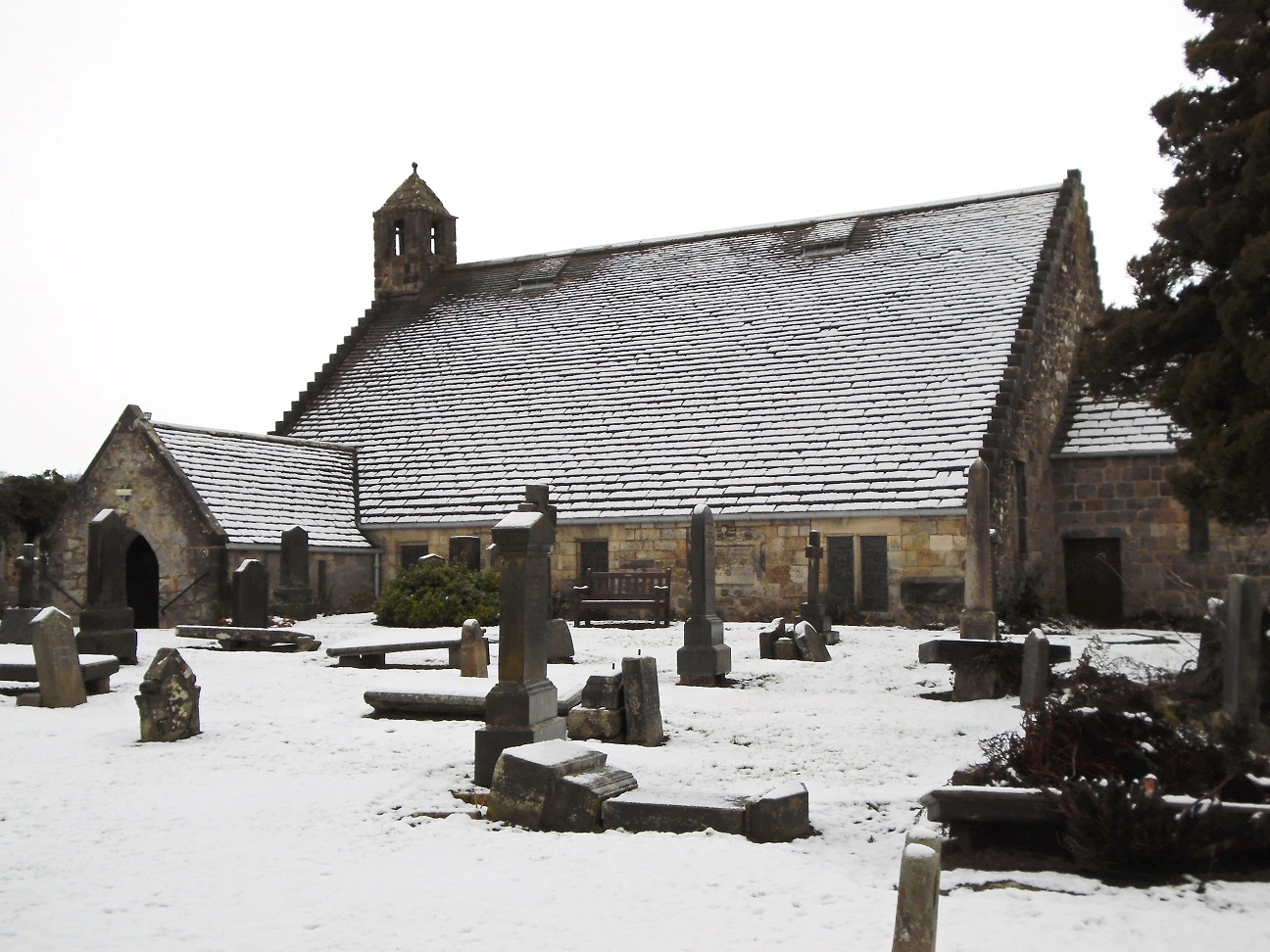 Photo: David G - The church in snow from the SE